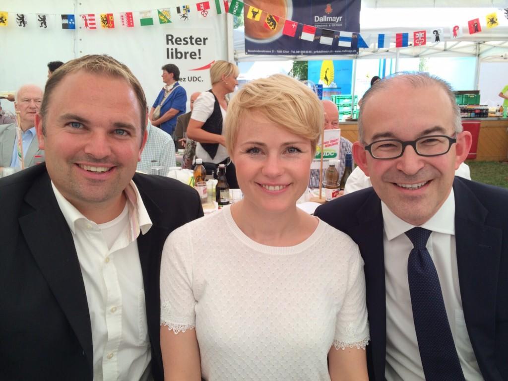 Marcel Dettling, Natalie Rickli und Gregor Rutz